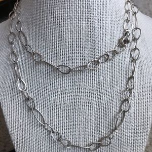 Silpada Oval Link Hammered Silver Link Necklace